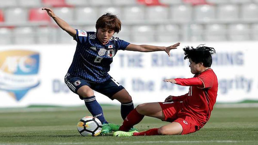 Tuyển nữ Việt Nam thua 0 - 4 trước đương kim vô địch Nhật Bản trong trận ra quân